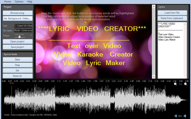 Lyric Video Creator Crack